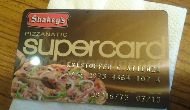 'Priviledged' to be a Shakey's SuperCard Holder