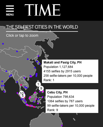 'Selfiest' Cities in the World