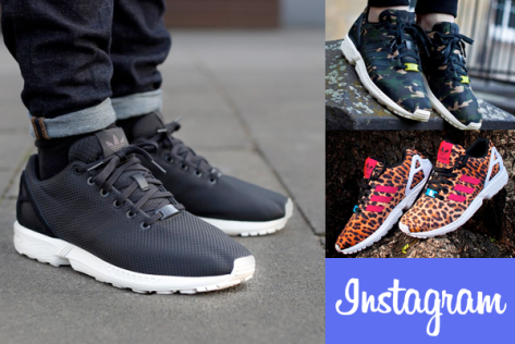 Using your Instagram photos, Mi Adidas can turn your black ZX Flux shoes to one-of-a-kind sneakers