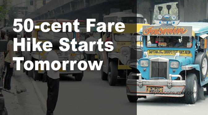 Jeepney 50-Cent Fare Increase Starts Tomorrow, June 14th
