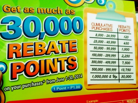 FC Super 8 Rebate Points