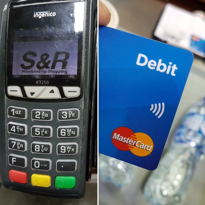 PROBLEM AT THE CASHIER WITH DEBIT CARDS AND MORE